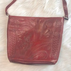 Leaders in Leather Red Leather Purse